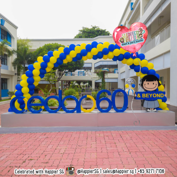 Extra large spiral balloon arch