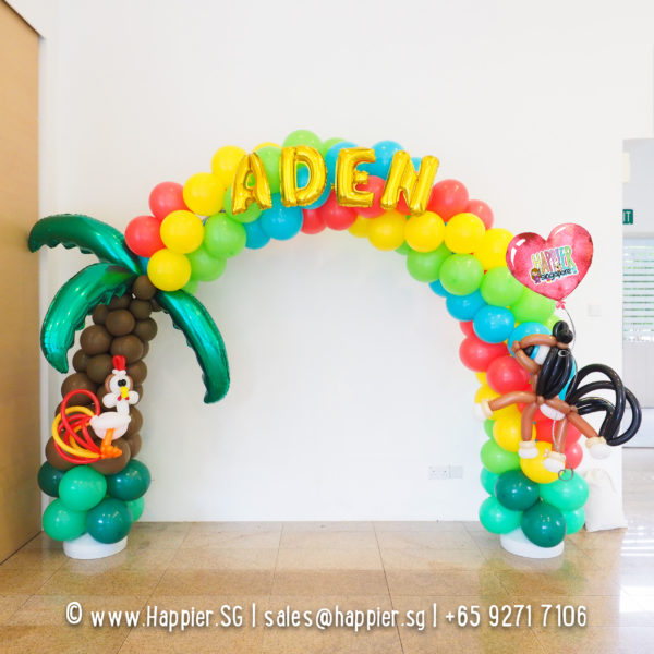 Farm-animal-balloon-arch-decoration