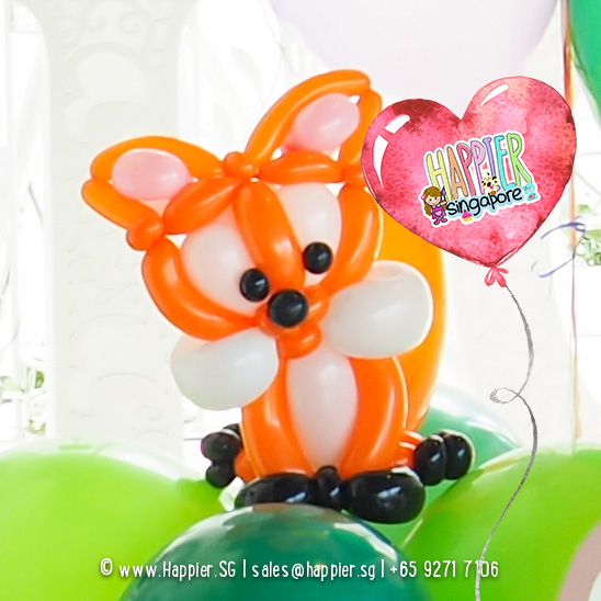 Fox-balloon-column-decoration