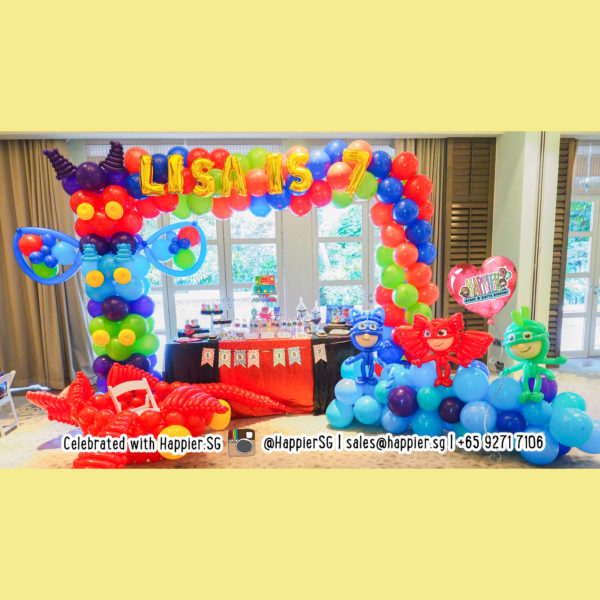 PJ Mask Balloon Arch and Landscape Decoration