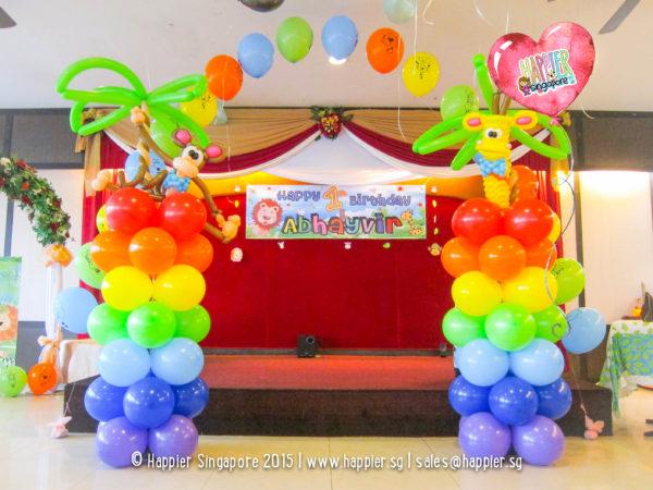 Safari-animal-jungle-balloon-column-decoration