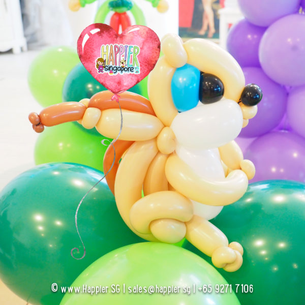 Squirrell-balloon-column-decoration