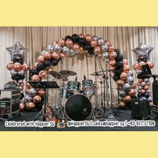Chrome spiral balloon arch decoration
