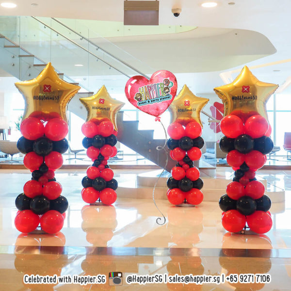Customised logo star balloon columns