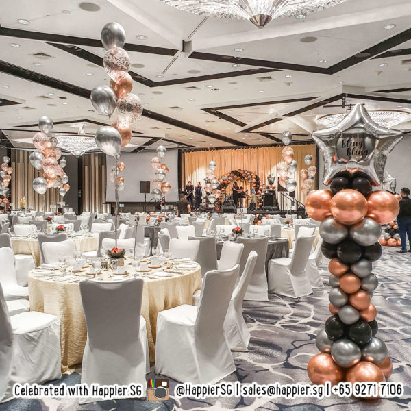 Helium balloon table centrepiece decoration
