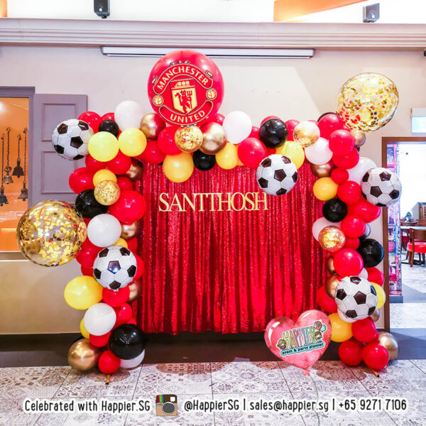 Soccer Sports Party Balloon Decoration